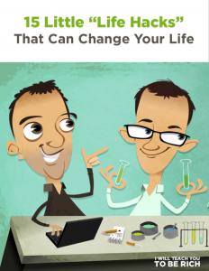 15 Life Hacks PDF Cover Graphic