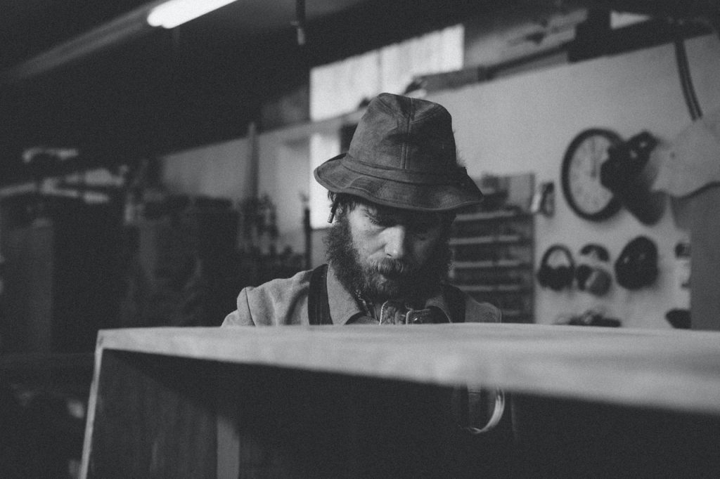 man working in a woodshop