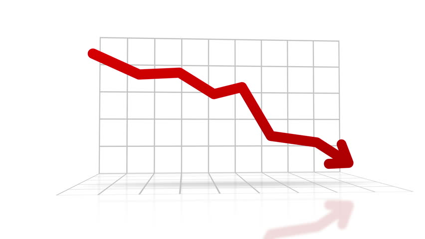Stocks Going Down Graphic With A Red Arrow